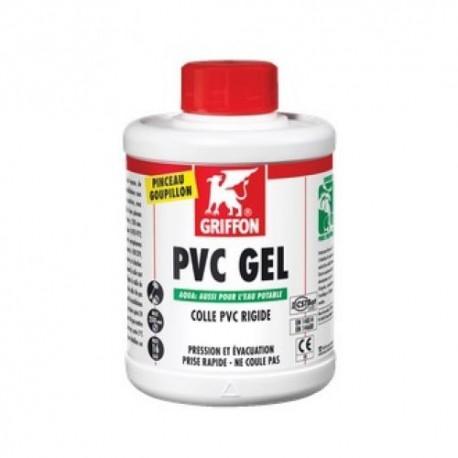 Bidon de colle  250 ml, spécial PVC assainissement, agréée eau potable,  avec goupillon.