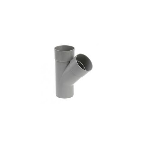 Culotte Y diam 100 mm 45° Male / Femelle / Femelle