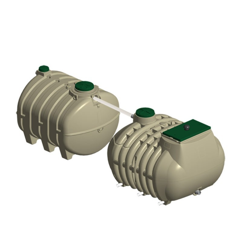 Filtre compact Hydrofiltre 2, 7 EH, 2 cuves (1 fosse toutes eaux 5 m3 + 1 filtre compact 9 EH)
