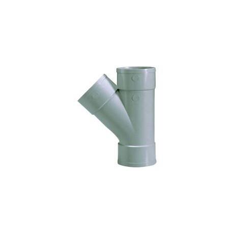 Culotte Y diam 100 mm 45° Femelle / Femelle / Femelle