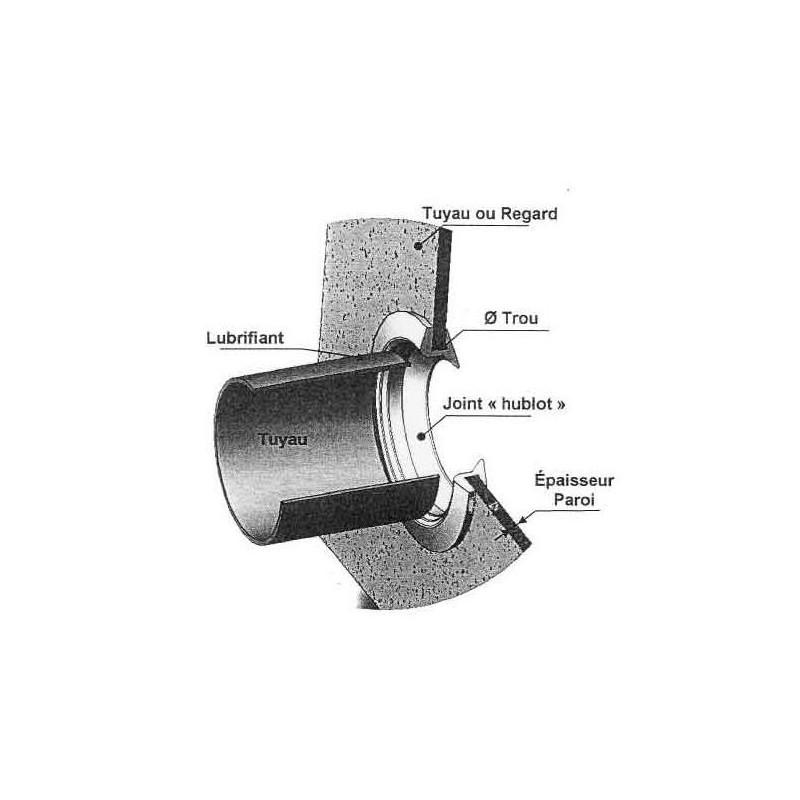 Joint hublot 100 mm passe paroi